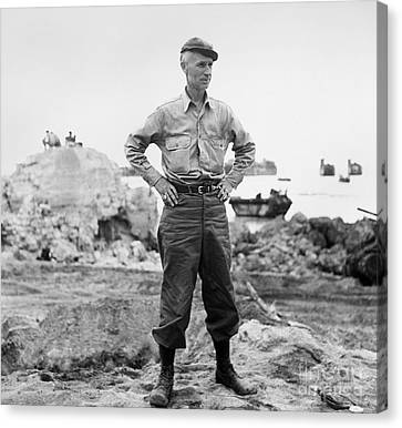 Ernie Pyle (1900-1945). American Journalist. Photograph, C1942 Canvas Print by Granger