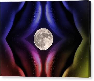 Erotic Moonlight Canvas Print by Steve K