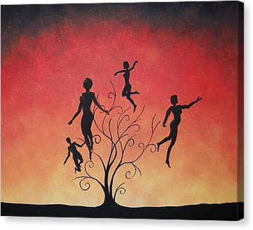 Canvas Print featuring the painting Errant Souls by Edwin Alverio