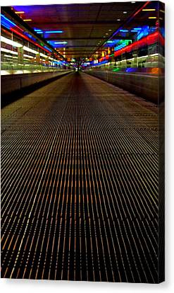 Escalator View ... Canvas Print by Juergen Weiss