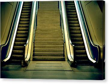 Escalators And Stairs Canvas Print by Joana Kruse