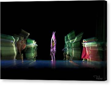 Canvas Print featuring the photograph Escaping Dancers by Raffaella Lunelli