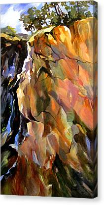 Canvas Print featuring the painting Escarpment by Rae Andrews