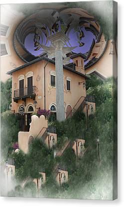 Escher's Dream Canvas Print by Nina Fosdick