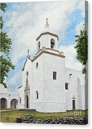 Canvas Print featuring the painting Espiritu Santo Mission by Jimmie Bartlett