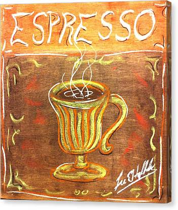 Espresso Canvas Print by Lee Halbrook