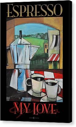Espresso My Love Poster Canvas Print