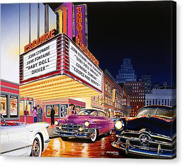 Esquire Theater Canvas Print by Bruce Kaiser