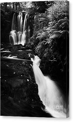 Ess-na-crub Waterfall On The Inver River In Glenariff Forest Park County Antrim Northern Ireland Canvas Print by Joe Fox