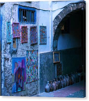 Essaouira Blue Moroccan Canvas Print