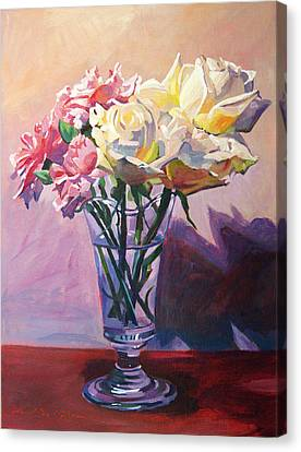 Essence Of Rose Canvas Print by David Lloyd Glover