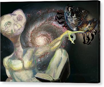 Outer Space Canvas Print - E.t. by Rae Pruski