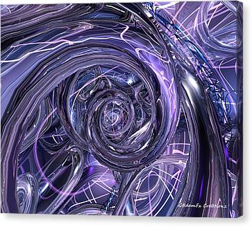 Eternal Depth Of Abstract Fx  Canvas Print by G Adam Orosco
