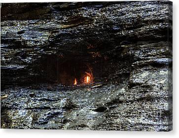 Eternal Flow Canvas Print - Eternal Flame Reflections by Darleen Stry