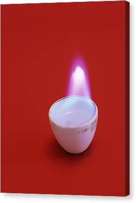 Ethanol Flame Canvas Print
