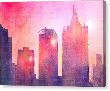 Ethereal Skyline Canvas Print by Arline Wagner