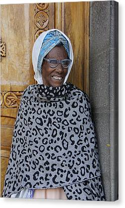 Ethiopia-south Orthodox Christian Woman Canvas Print by Robert SORENSEN