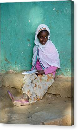 Ethiopia-south School Girl Canvas Print by Robert SORENSEN