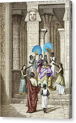 Euclid And Ptolemy Soter, King Of Egypt Canvas Print by Sheila Terry