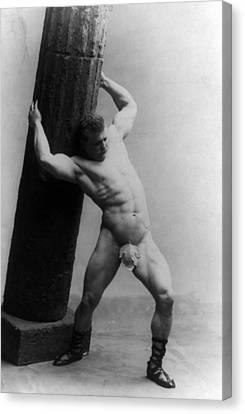 Eugen Sandow 1867-1925 Strong Man Canvas Print by Everett