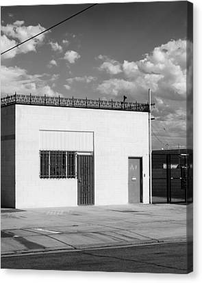 Eugene Building Bw Canvas Print by William Dey