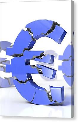 Euro Crisis, Conceptual Artwork Canvas Print