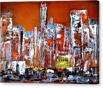 European Cityscape Canvas Print