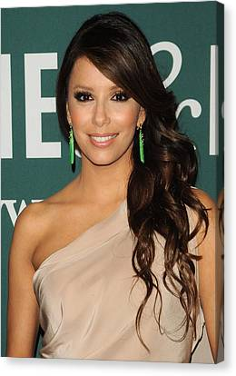 Dangly Earrings Canvas Print - Eva Longoria At In-store Appearance by Everett