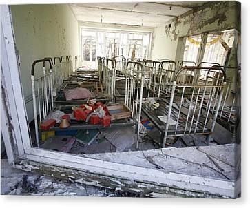 Evacuated Kindergarten Near Chernobyl Canvas Print by Ria Novosti