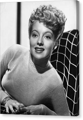 1940s Hairstyles Canvas Print - Evelyn Keyes, 1946 by Everett