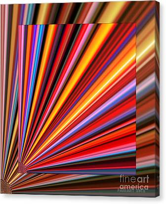 Even Lines Get Colorful Canvas Print