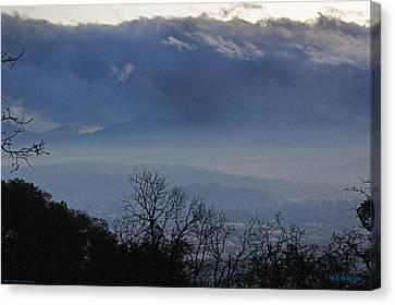 Evening At Grants Pass Canvas Print by Mick Anderson