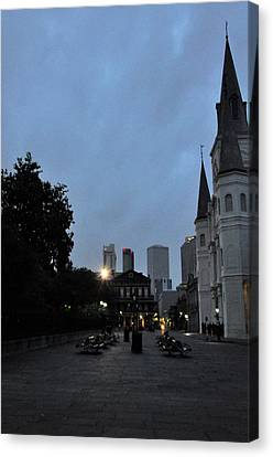 Evening At The Cathedral Canvas Print by Helen Haw