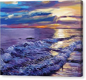 Evening Coastline Canvas Print by David Lloyd Glover