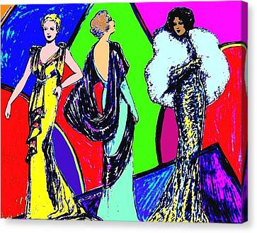 Evening Dresses Canvas Print