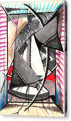 Evening Entertainment Venue Canvas Print by Al Goldfarb