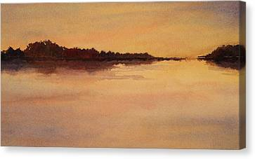Canvas Print featuring the painting Evening Glow by Vikki Bouffard