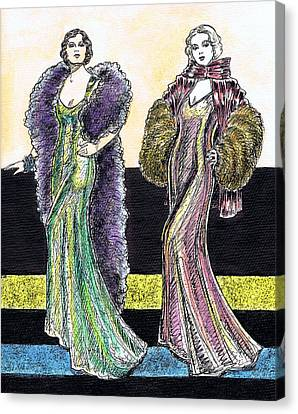 Evening Gowns Canvas Print