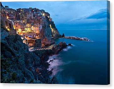 Evening In Manarola Canvas Print