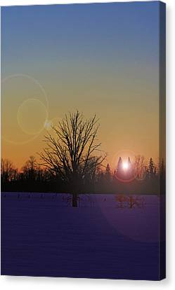 Evening Canvas Print by Josef Pittner