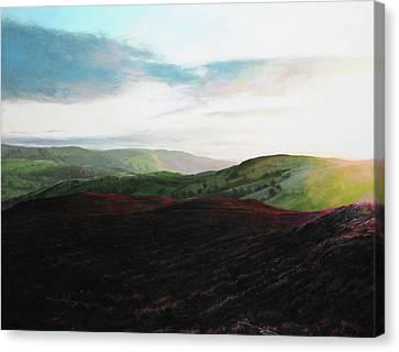Evening Landscape Towards Llangollen Canvas Print