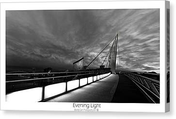 Canvas Print featuring the photograph Evening Light by Beverly Cash