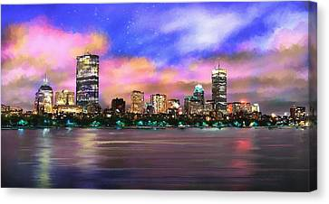 Evening Lights Canvas Print by Robert Smith