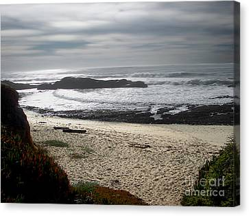 Evening Ocean Surf Canvas Print by The Kepharts
