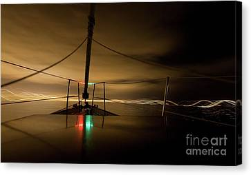 Evening Sail Canvas Print by Matt Tilghman