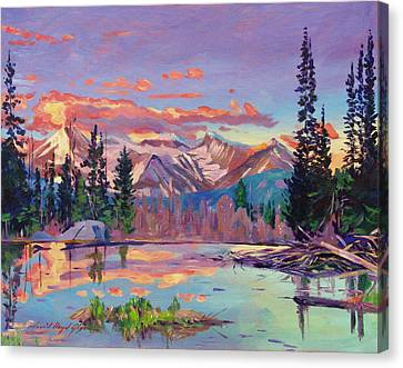 Evening Serenity Canvas Print by David Lloyd Glover