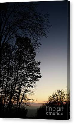 Canvas Print featuring the photograph Evening Silhouette At Sunset by Bruno Santoro