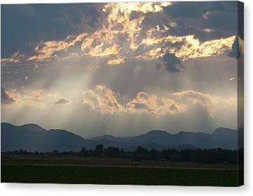 Evening Storm Clouds Canvas Print by Renee Skiba