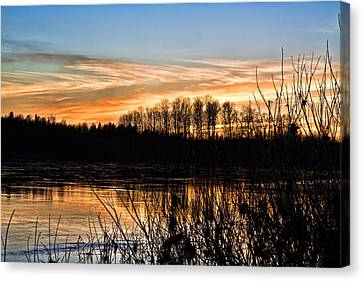 Evening Sunset Canvas Print by Gary Smith
