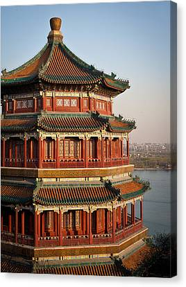 Beijing Canvas Print - Evening Temple Of The Fragrant Buddha by Mike Reid